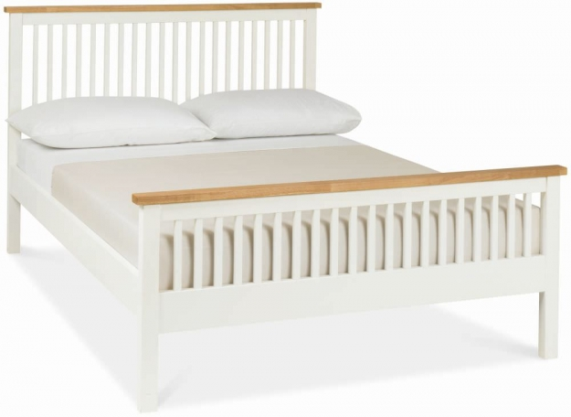Bentley Designs Atlanta Two Tone Bedstead - 3ft Single High Foot End