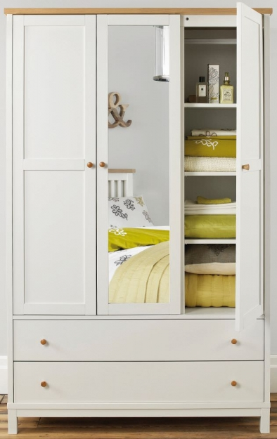 Bentley Designs Atlanta Two Tone Wardrobe - Triple