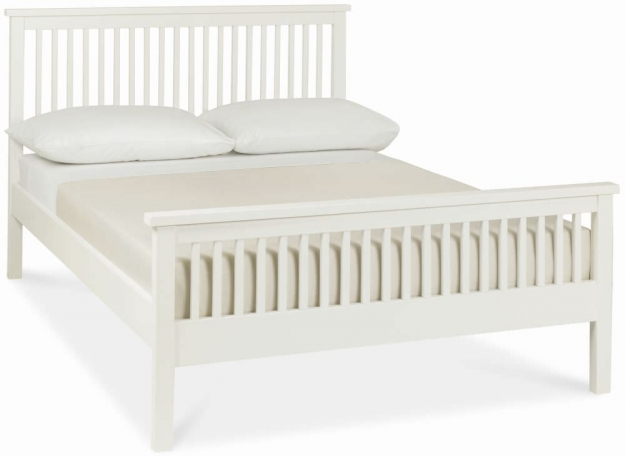 Bentley Designs Atlanta White Bedstead - 3ft Single High Foot End