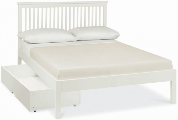 Bentley Designs Atlanta White Bedstead - Low Foot End
