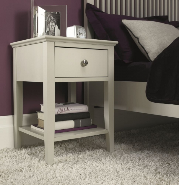 Bentley Designs Ashby Cotton Bedside Table - 1 Drawer