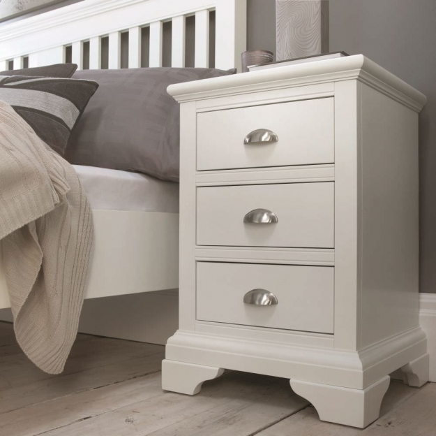 Bentley Designs Hampstead White Bedside Cabinet - 1 Drawer