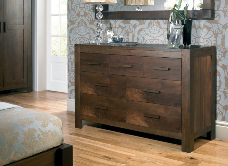 Bentley Designs Lyon Walnut Chest Of Drawer