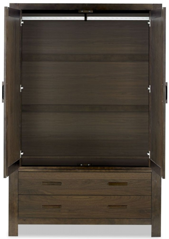 Bentley Designs Lyon Walnut Wardrobe - Large Double