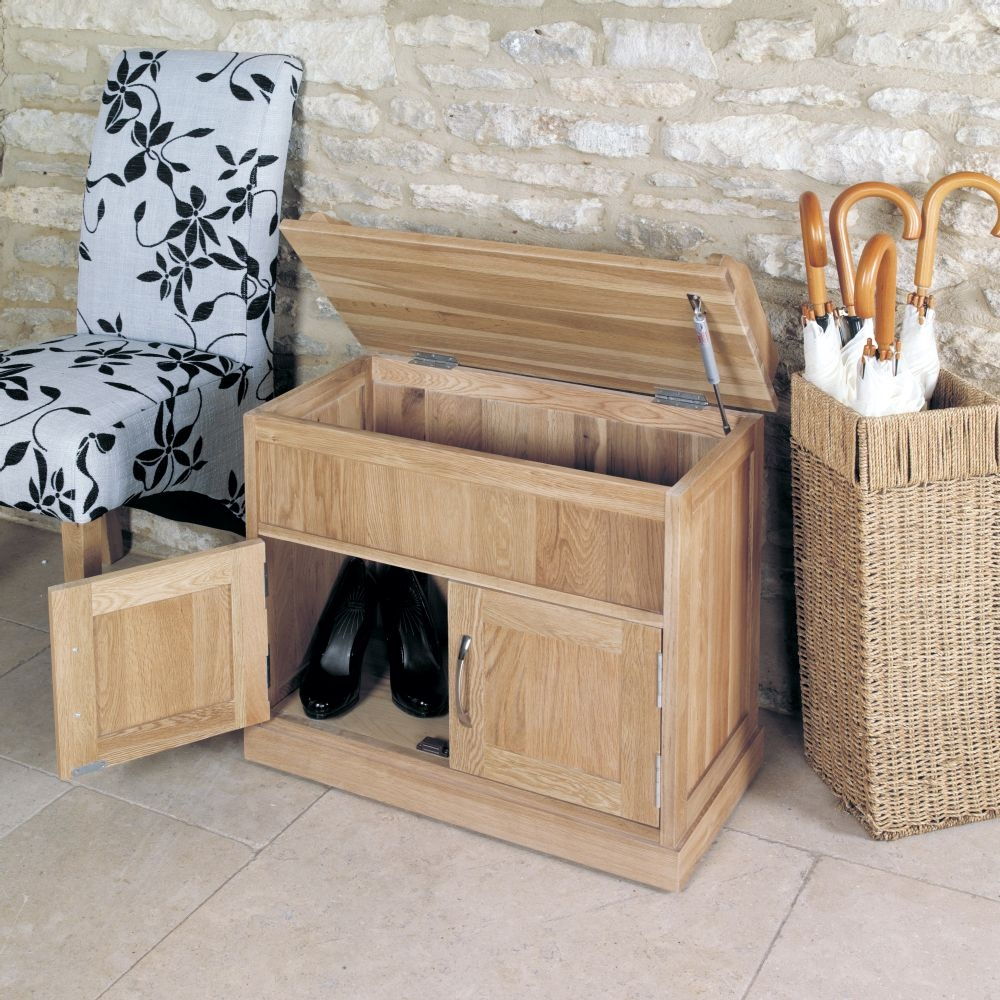 Mobel Solid Oak Furniture Shoe Storage Hallway Bench: Buy Baumhaus Mobel Oak Shoe Bench With Hidden Storage