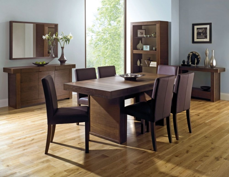 Bentley Designs Akita Walnut Dining Table - 6 Seater Panel