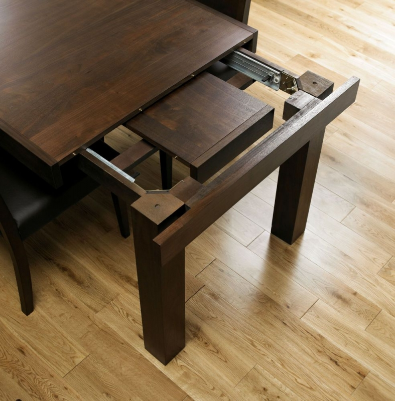 Bentley Designs Akita Walnut Dining Table - 6-8 Seater End Extending