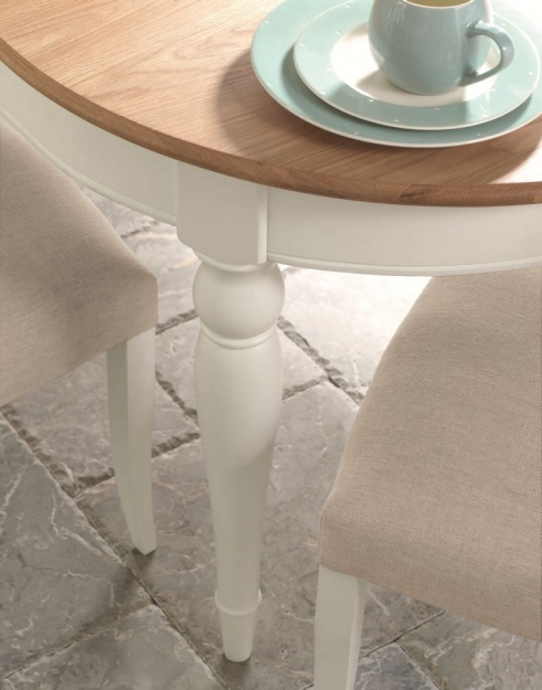 Bentley Designs Hampstead Two Tone Dining Table - 4-6 Seater Extending