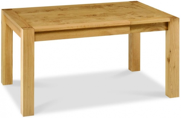 Bentley Designs Lyon Oak Dining Table - Small End Extending