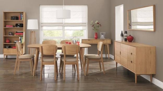 Bentley Designs Oslo Oak Dining Table - 6 Seater
