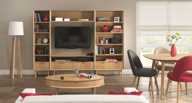 Bentley Designs Oslo Oak Bookcase - Wide