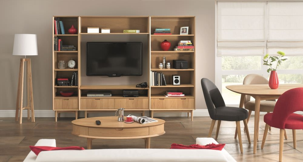 Buy bentley designs oslo oak living room package online for Living room designs with oak furniture