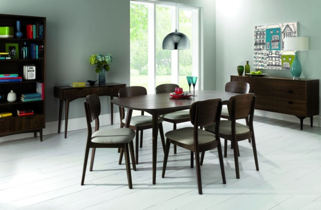 Bentley Designs Oslo Walnut Dining Table - 6 Seater