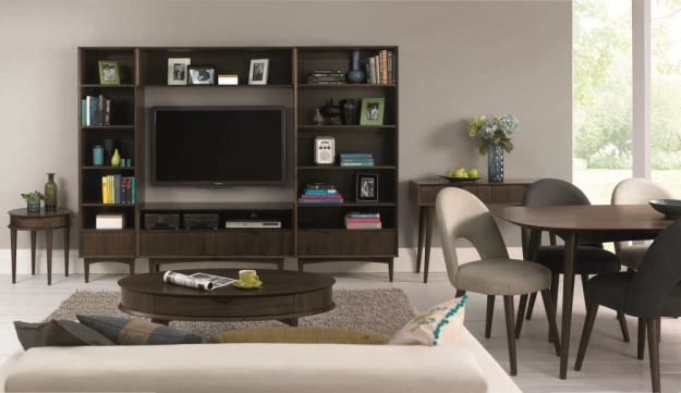 Bentley Designs Oslo Walnut Entertainment Unit
