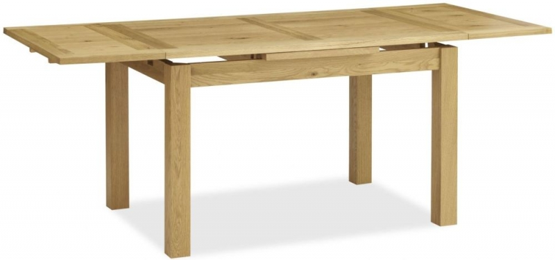 Bentley Designs Provence Oak Dining Table - 4-6 Draw Leaf Extending