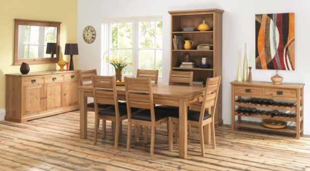 Bentley Designs Provence Oak Console Table with Wine Rack
