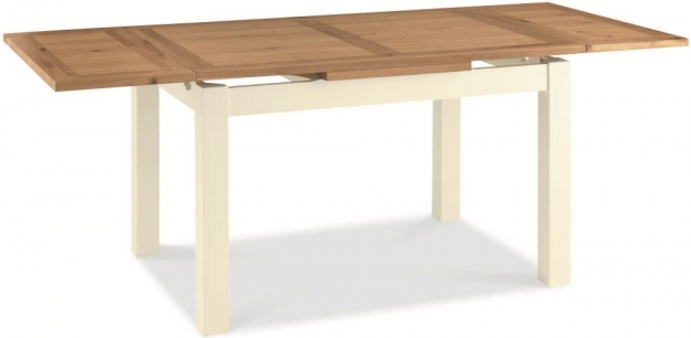 Bentley Designs Provence Two Tone Dining Table - 4-6 Draw Leaf Extending
