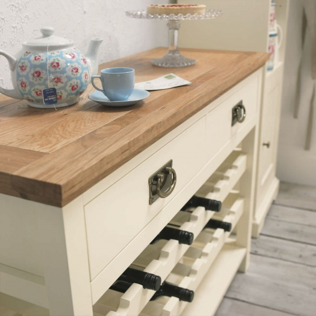 Bentley Designs Provence Two Tone Console Table with Wine Rack