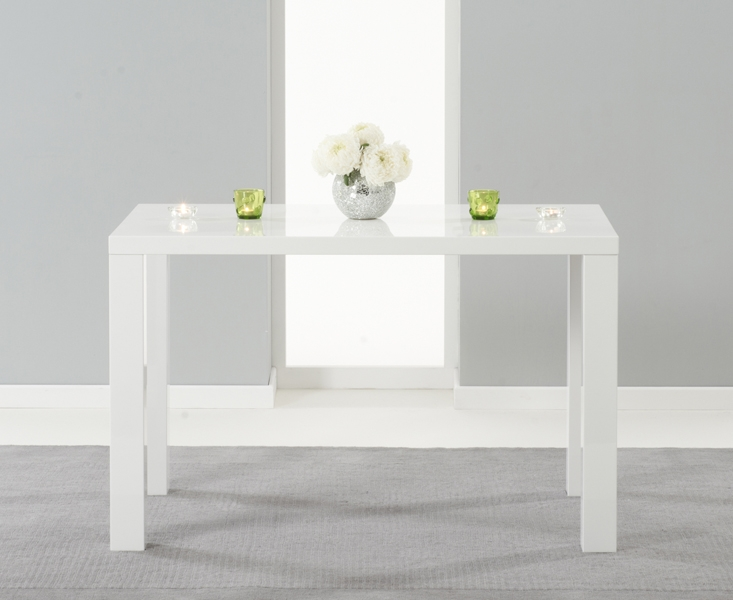 Mark Harris Ava White High Gloss Small Dining Table