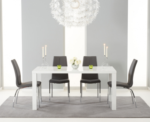 Mark Harris Ava White High Gloss Dining Table - 160cm