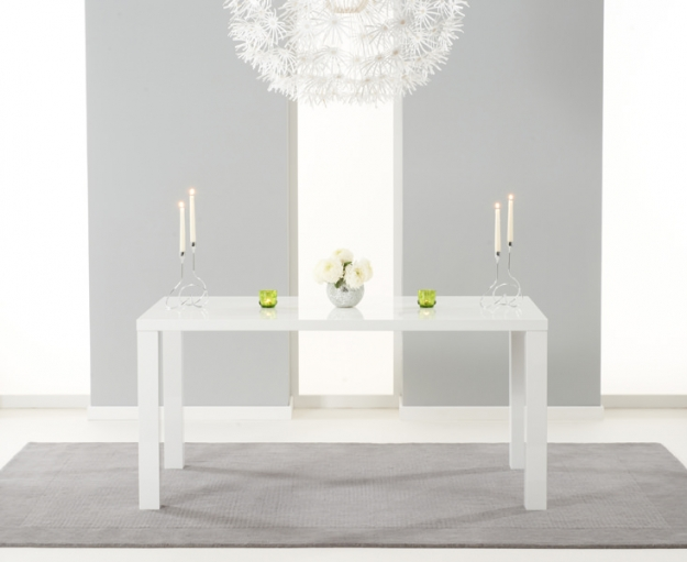 White Gloss Dining Table White Gloss Seater Dining Table  : 4Ava White High Gloss Dining Table 160cm PT31501 b from www.tydusis.com size 625 x 511 jpeg 123kB