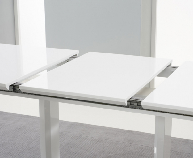 Mark Harris Beckley White High Gloss Dining Table - 160cm