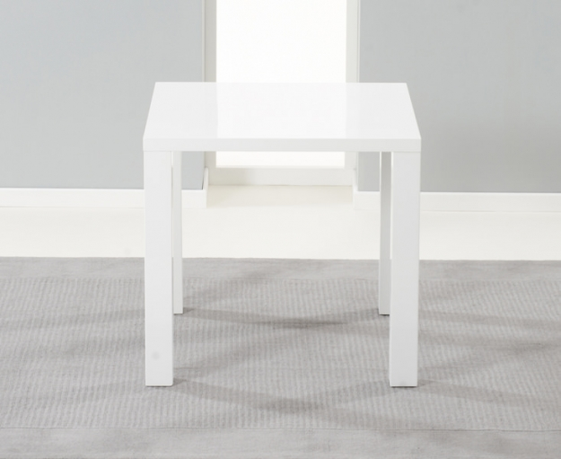 Mark Harris Hereford White High Gloss Dining Set with 2 White Hereford Dining Chairs