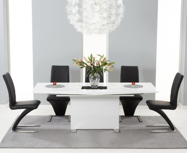 Mark Harris Marila White High Gloss Extending Dining Table - 150cm-200cm