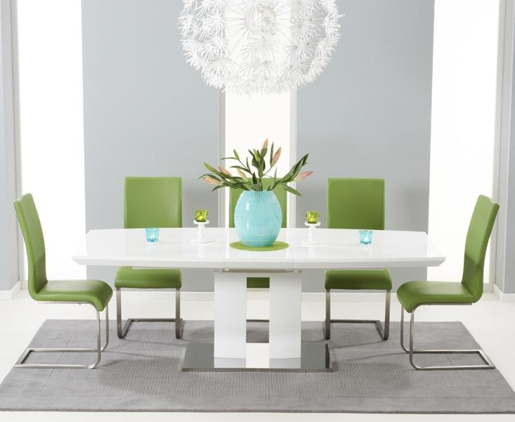 Rossini White High Gloss Extending Dining Table 180cm 220cm Mark Harris F