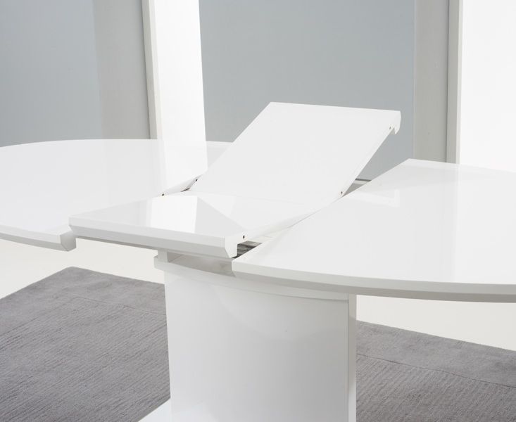 Seville White High Gloss Extending Dining Table 160cm  : 3Seville White High Gloss Extending Dining Table 160cm 200cm PT34411 d from www.choicefurnituresuperstore.co.uk size 733 x 600 jpeg 89kB