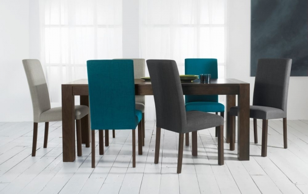 Bentley Designs Parker Walnut Dining Chair - Linen Square Back (Pair)