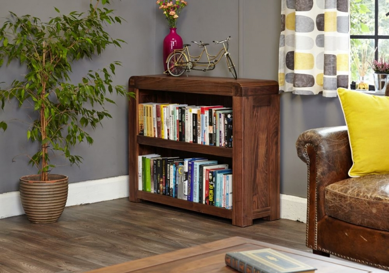 Baumhaus Shiro Walnut Bookcase - Low