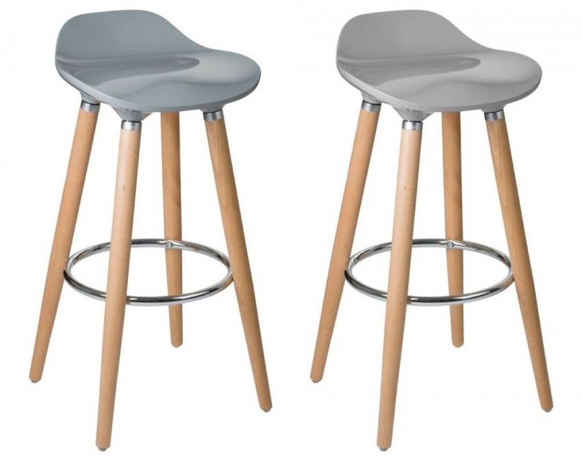 Stockholm Chic Grey Bar Stool