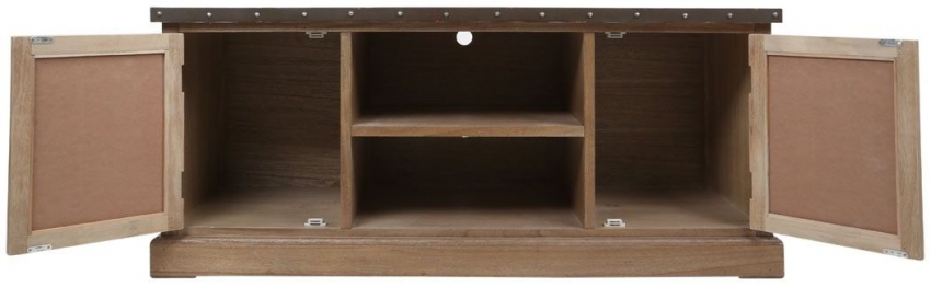 Village Loft Natural 2 Door 1 Shelf Media Cabinet