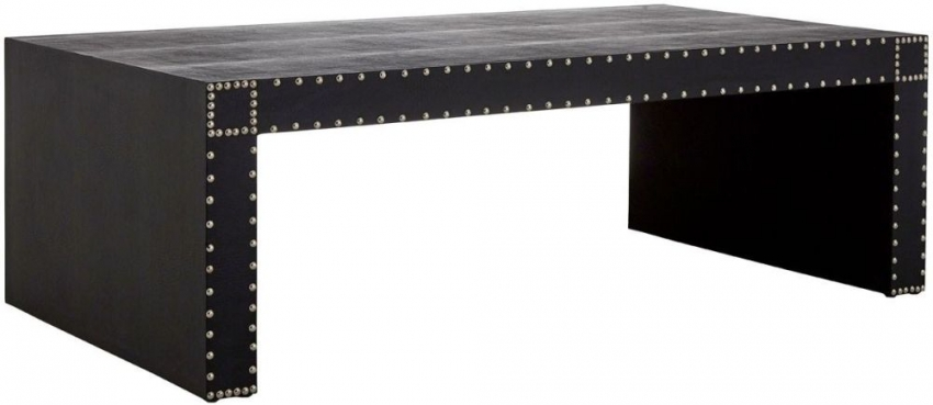 Sloane Black Leather Coffee Table