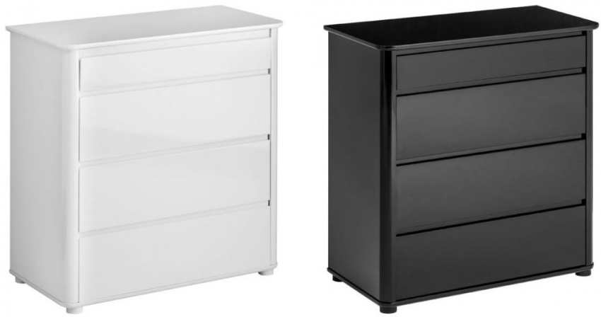 Moritz White 4 Drawer Chest