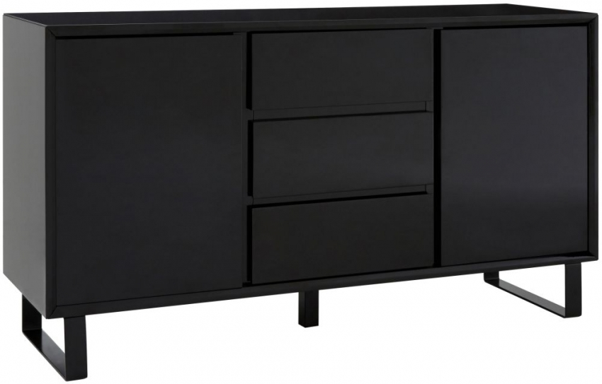Moritz Black 2 Door 3 Drawer Sideboard