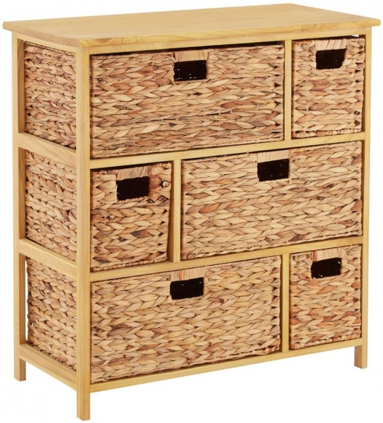 Padstow 6 Drawer Natural Frame Storage Unit