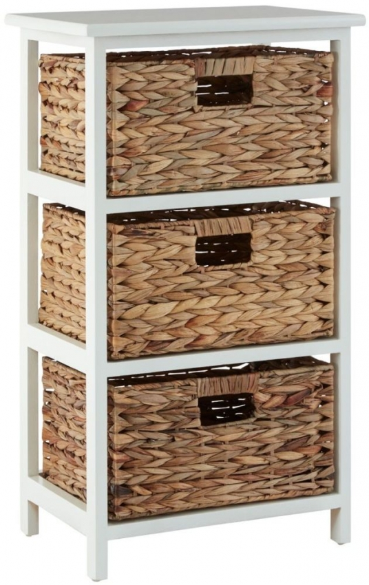 Padstow White Paulownia Wood Storage Unit