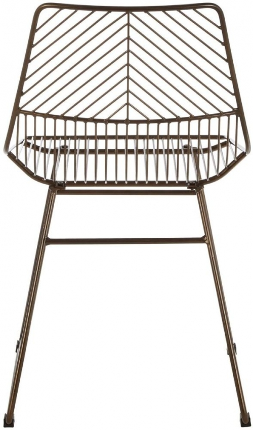 District Bronze Metal Tapered Wire Chair