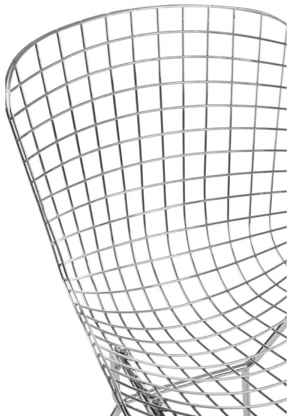 District Chrome Metal Wire Grid Chair