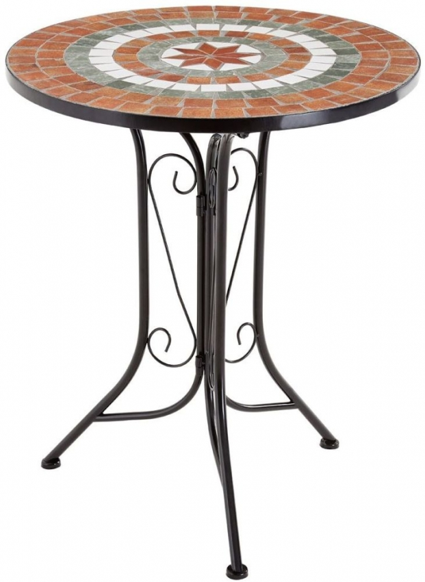 Amalfi Terracotta Mosaic Dining Set with 2 Chairs - 60cm