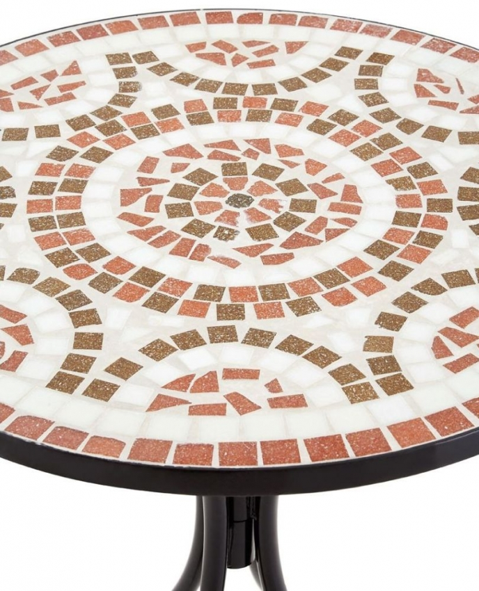 Amalfi Terracotta and Brown Dining Table and 2 Chairs