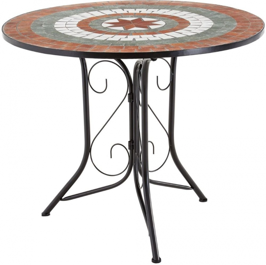 Amalfi Terracotta Dining Table and 4 Chairs