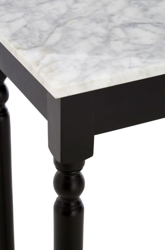 Henley Black Frame with Marble Top Console Table