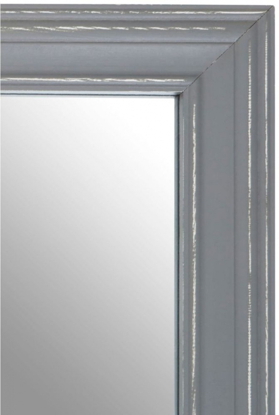 Henley Grey Wooden Frame Rectangular Wall Mirror
