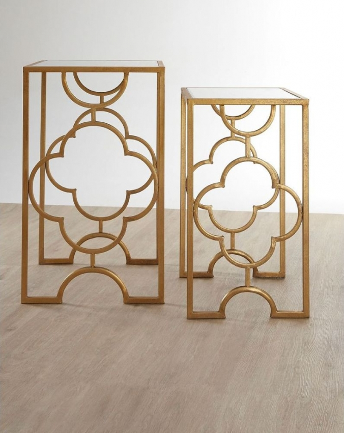 Merlin Gold Leaf Nest of Table (Set of 2)