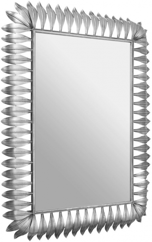 Merlin Silver Leaf Frame Rectangular Wall Mirror