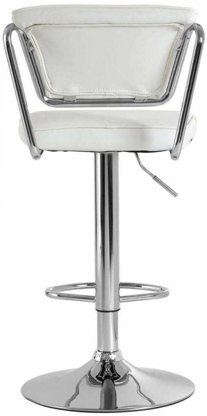 Tilly White Faux Leather Bar Chair (Pair)