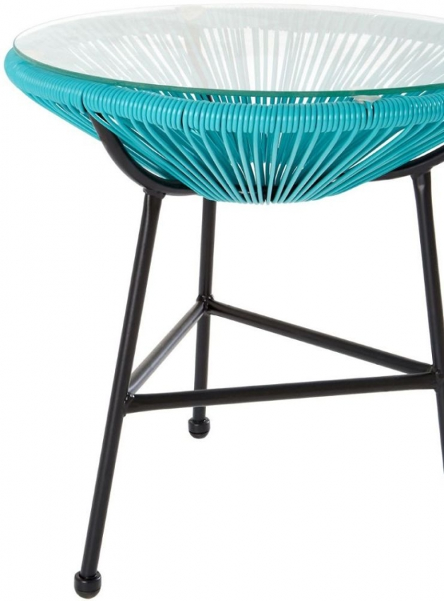 Miami Rattan Effect Dining Set with 2 Chairs